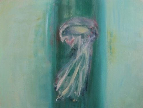 "Eaux Salees XIII  (sold) oil on canvas, 36"" x 48"" 2012"