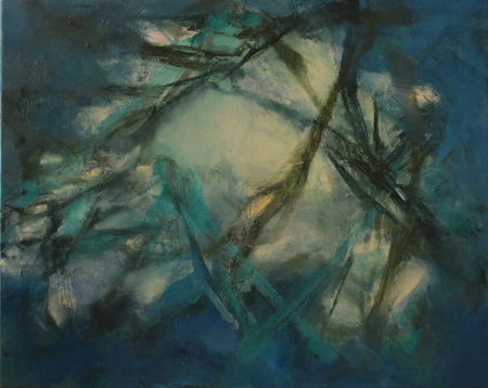 """Eaux Salées IX  (sold) oil on canvas, 24"""" x 30"""" 2012"""