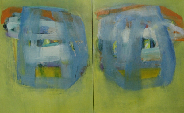 "Sail On I  (sold) oil on canvas, 36"" x 60"" (diptych) 2014"