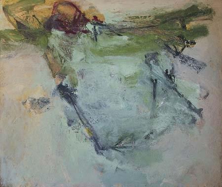 "Traveler III  oil on wood, 27"" x 32"" 2005"
