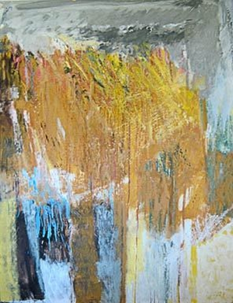 "Les Oies Blanches I  oil on linen, 51"" x 38"" 1983"