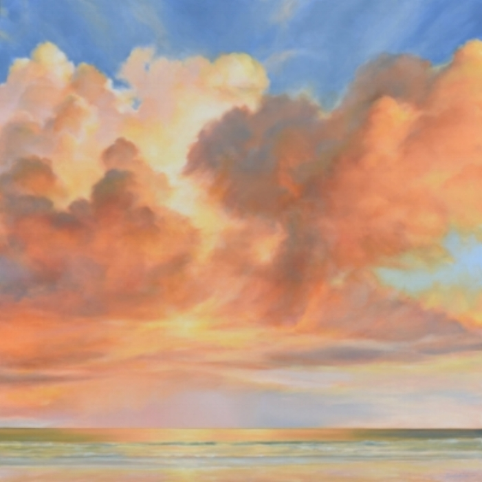 "Florida Sky 41  oil on board, 36"" x 36""  2016"