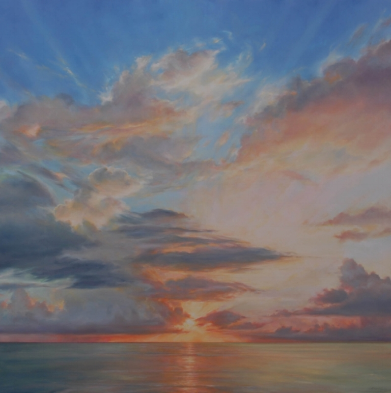 "Florida Sky 18  oil on board, 48"" x 48"" 2012"