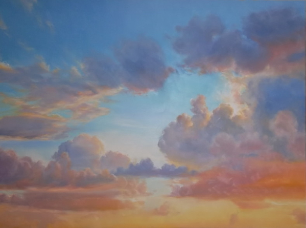 "Florida Sky 14  oil on board, 36"" x 48"" 2012"