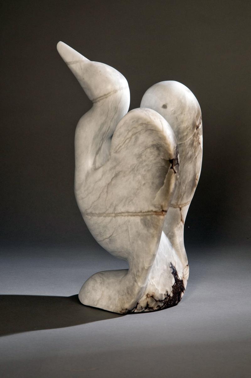Heron  9x5x15 Blue Anhydrite Stone