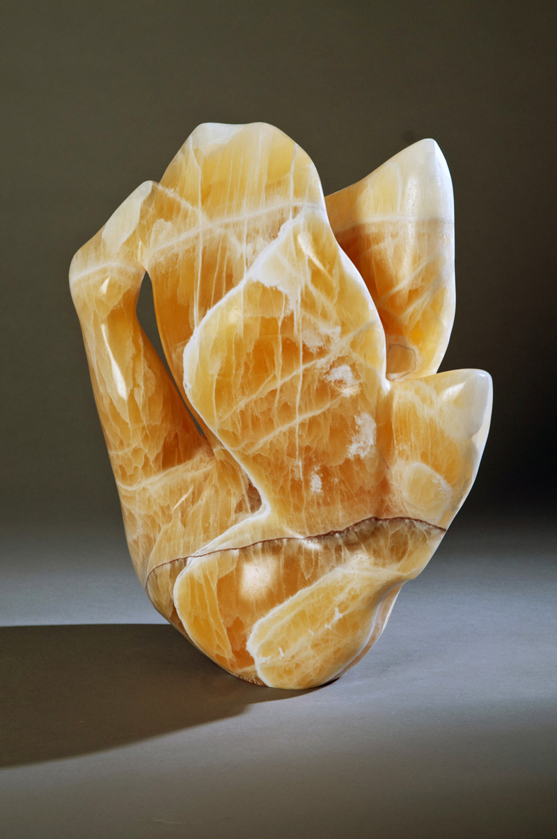"Preening Bird  11x6x14"" Calcite"