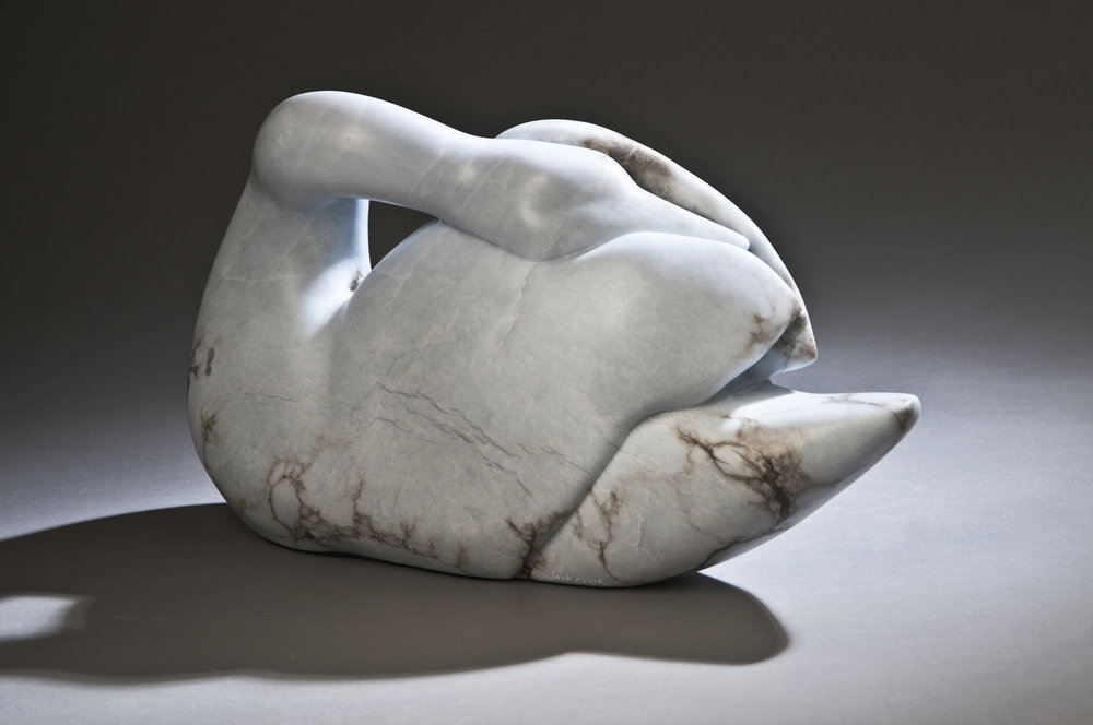 "Sleeping Swan  15x5x9"" Blue Anhydrite"