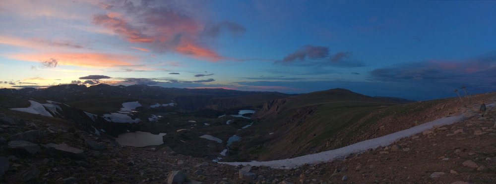 The stunning view from Beartooth Pass at sunset. Image Credit: B. Malinowski