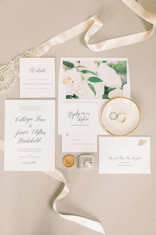 wedding invitation suite detail shot