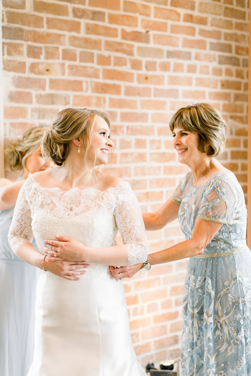 bride and mother of the bride wedding photo