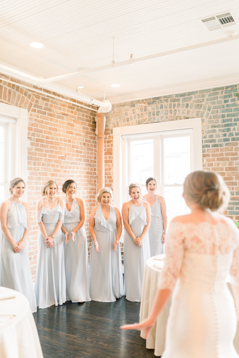 Station 3 houston bride and bridal party photo