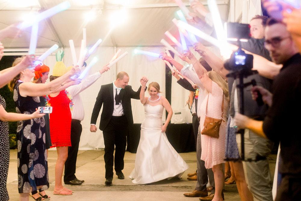 Wedding exit at station 3 houston