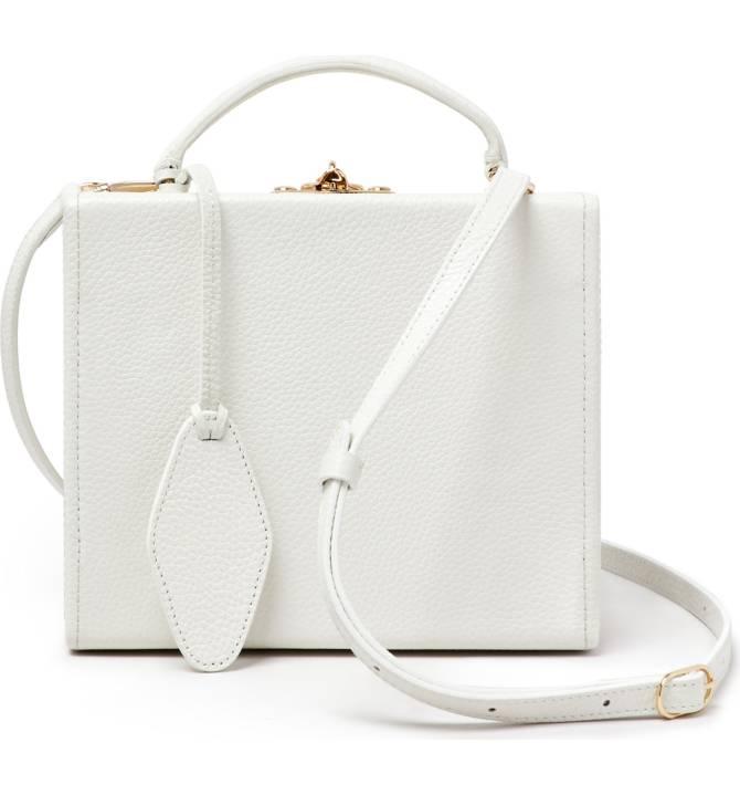 POP & SUKI Personalized Leather Box Bag - $275 -