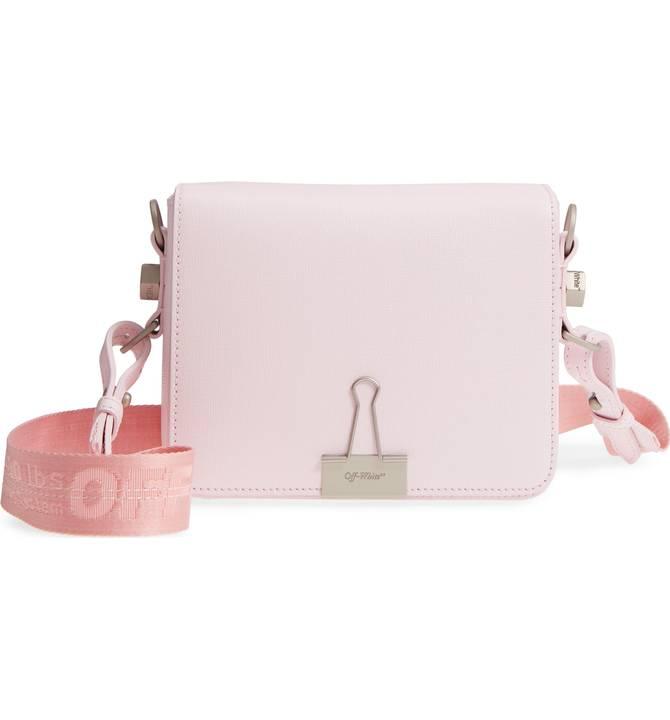 Off-White Binder Clip Leather Flap Bag - $1065 -