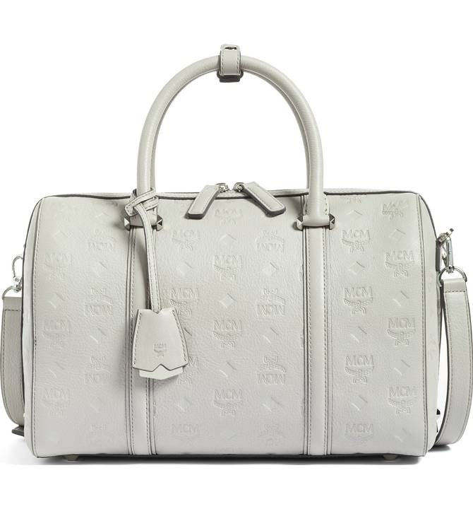MCM Signature Monogram Embossed Leather Crossbody Bag - $775 -