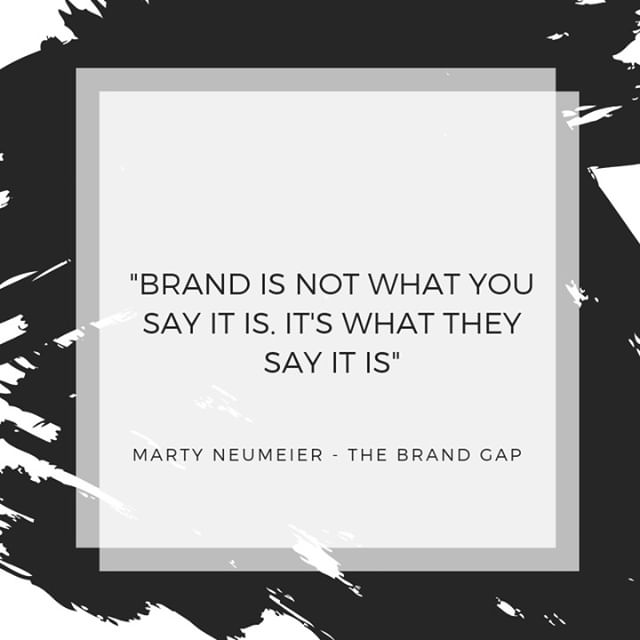 Author and brand guru, Marty Neumeier, knew what he was talking about when he wrote this. You can say your company is whatever you want but unless your consumers are saying the same thing, you don't have a cohesive brand image. Just another reminder to #BeYourBrand! . . . #sydneysmallbusiness #creative #agency #brand #beyourbrand #brandagency #personalbrand #success #socialmedia #marketing #online #social #wework #together #inspired #market #advertising #bondibeach #bondijunction #sydneybusiness #sydneyentrepreneurs #network #summer #city #easternsuburbs #martinplace #blog #strategy #blogging