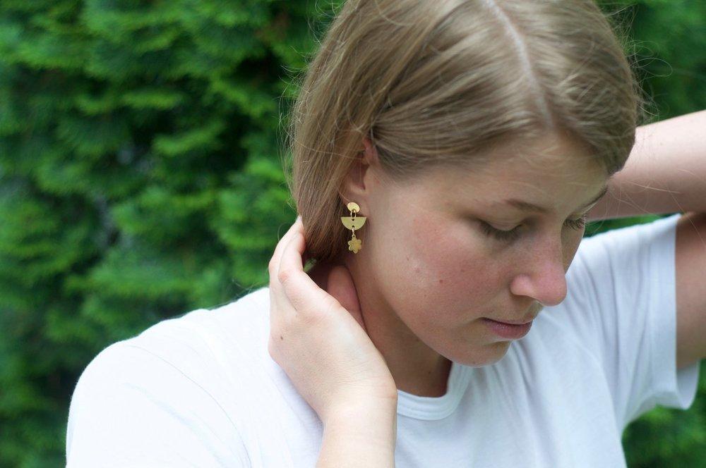 Summer Earrings 2018 Collection  Photos Monique Espino • Model Tina Gigliotti