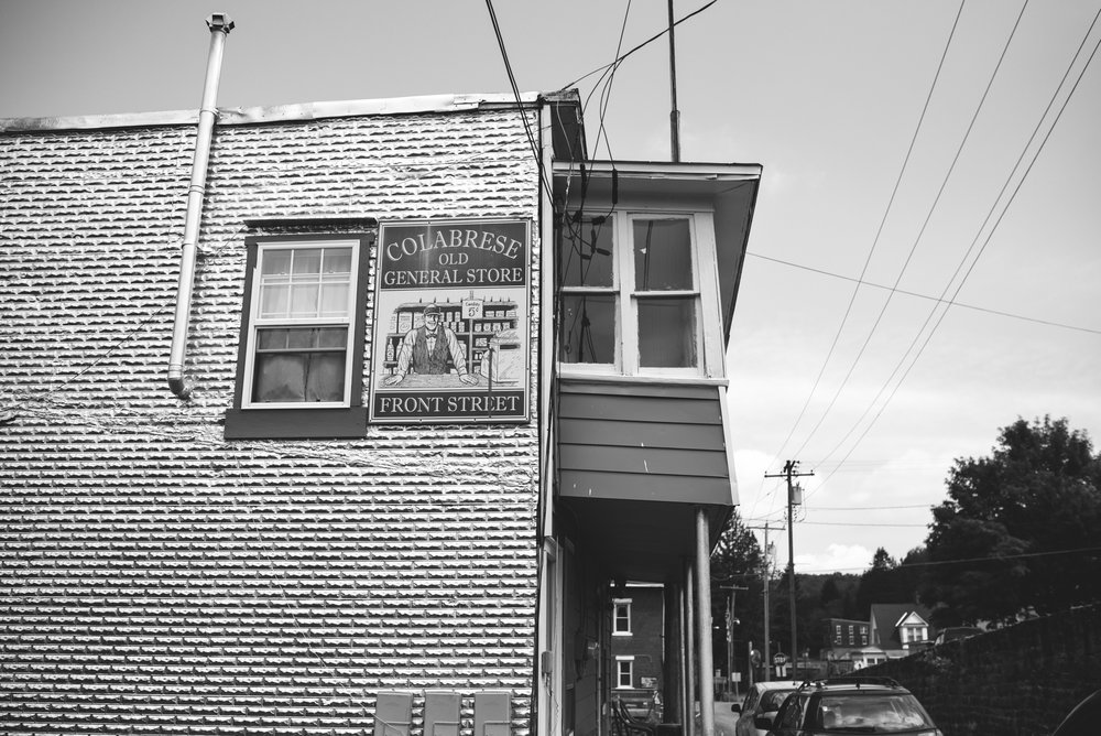 Mountain Wedding, Outdoors, Rustic, West Virginia, Maryland Wedding Photographer, DIY, Casual, Black and White Photo, Colabrese Old General Store