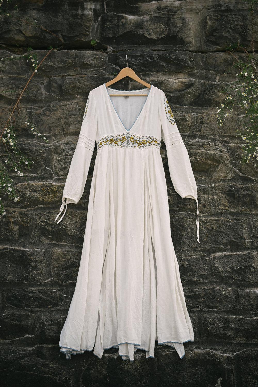 Mountain Wedding, Outdoors, Rustic, West Virginia, Maryland Wedding Photographer, DIY, Casual, Embroidered White Wedding Dress