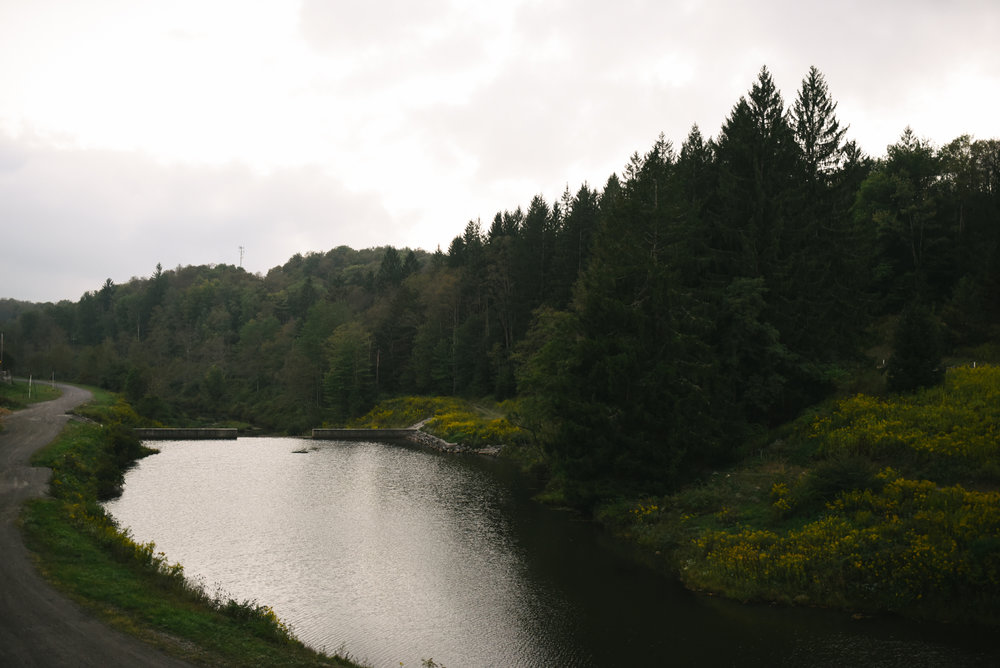 Mountain Wedding, Outdoors, Rustic, West Virginia, Maryland Wedding Photographer, DIY, Casual, beautiful photo of river at dusk, Blackwater River
