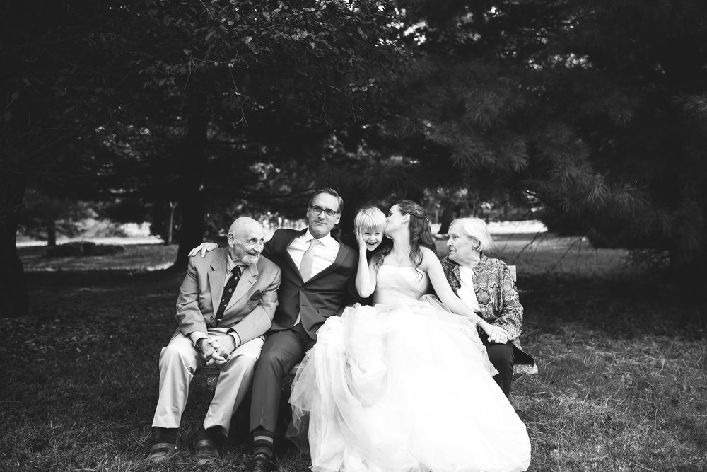 Vintage, DIY, Rustic, Germantown, Maryland Wedding Photographer, Alternative, Casual, Outdoor Wedding, Church Wedding, Whimsical, Campground, Black and White Photo, Family Portrait