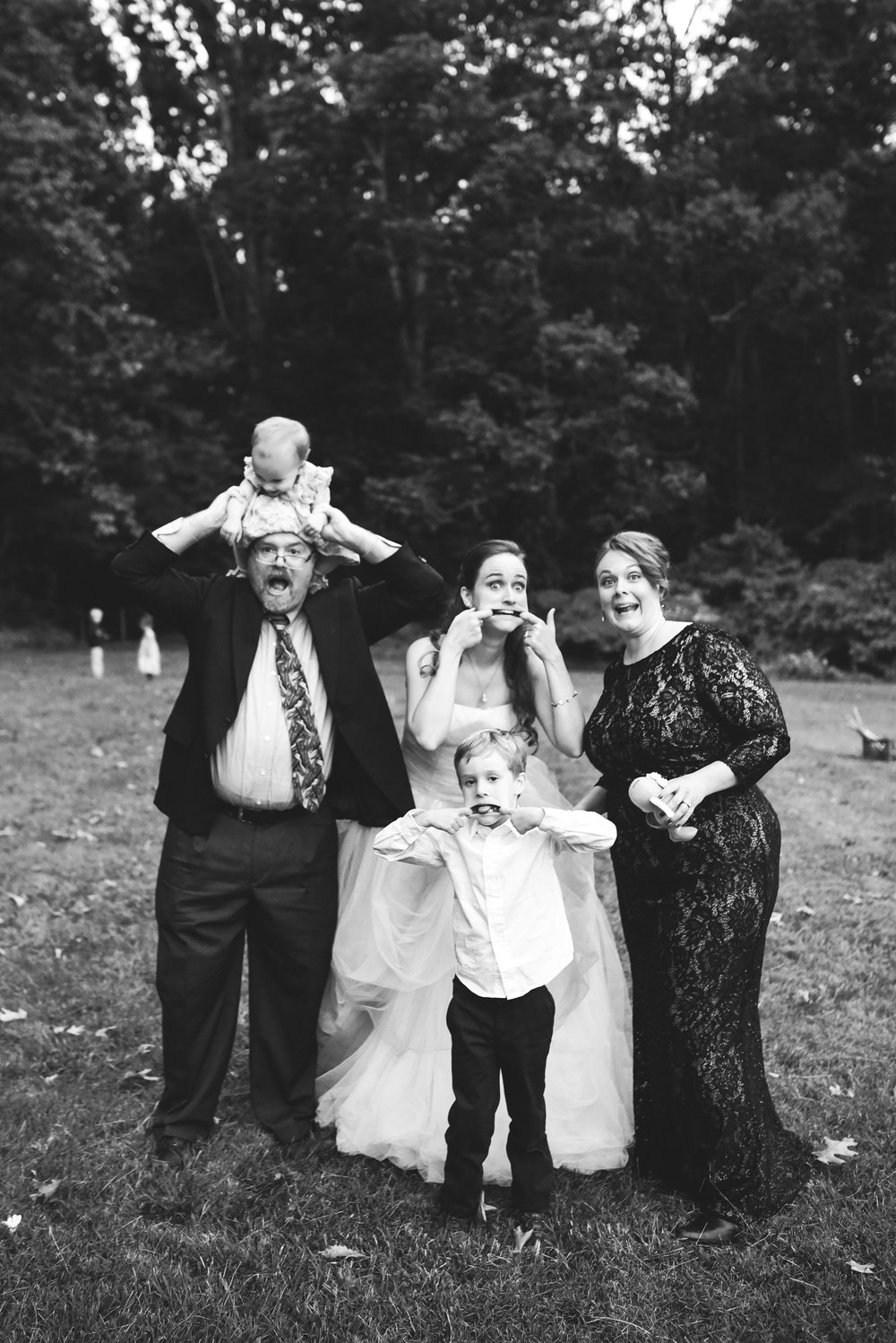 Vintage, DIY, Rustic, Germantown, Baltimore Wedding Photographer, Alternative, Casual, Outdoor Wedding, Church Wedding, Whimsical, Family Photo, Silly Photo, Kids Playing, Black and White Photo
