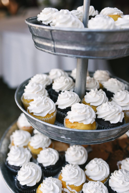 Baltimore, Canton, Modern, Outdoor Reception, Maryland Wedding Photographer, Romantic, Classic, Boston Street Pier Park, Cupcake tower at reception, Dessert display