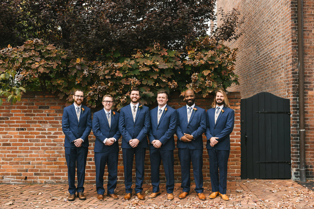 DC, Alexandria, Virginia, Fall Wedding, Historic Wedding, Old Town, DC, Jos A. Bank Suit, The Enchanted Florist, Groom and Groomsmen,
