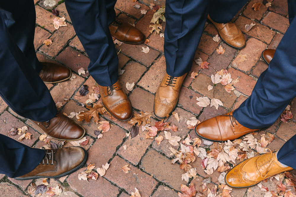 DC, Alexandria, Virginia, Fall Wedding, Historic Wedding, Old Town, DC, Jos A. Bank Suit, Groom and Groomsmen, Cobblestone, Shoe Detail, Detail Photos