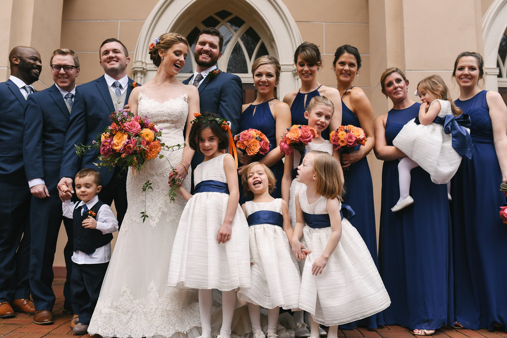 Old Town, Historic, DC, Jos A. Bank Suit, The Enchanted Florist, Wedding Party, Bridal Party, Lian Carlo Wedding Dress, Flower Girls, Ring Bearer, Blue Bridesmaid Dress, Maryland Wedding Photographer