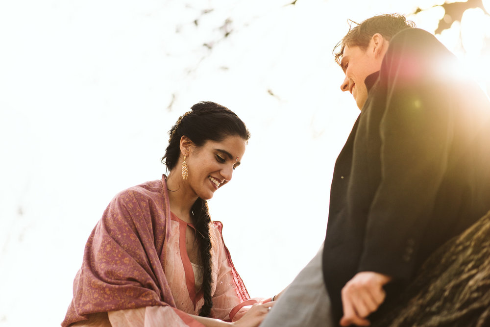Elopement, Weekday Wedding, Towson, Rawlings Conservatory, Greenhouse, Baltimore Wedding Photographer, Indian American, Outdoor, Nature, Romantic, Garden, Bride Smiling
