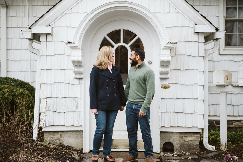 Engagement Photos, Rainy, Ellicott City, Maryland Wedding Photographer, Winter, Overhills Mansion, Indian American, Historical, Classic, Traditional, Outdoor, Laughing