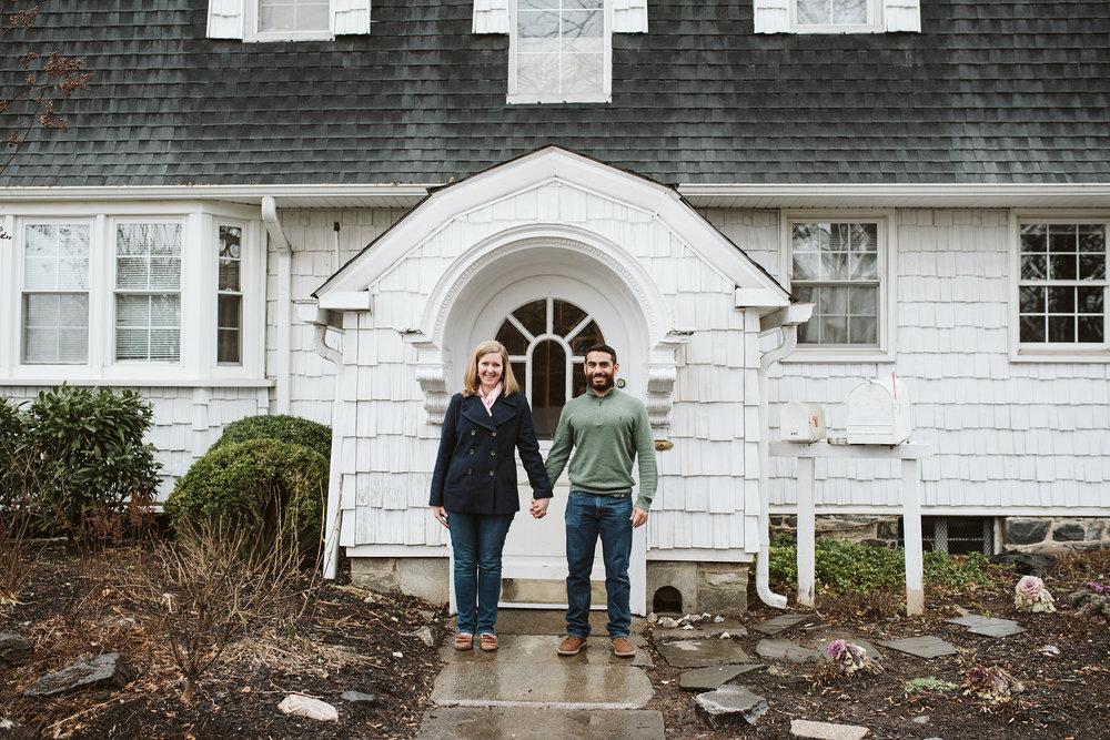 Engagement Photos, Rainy, Ellicott City, Maryland Wedding Photographer, Winter, Overhills Mansion, Indian American, Historical, Classic, Traditional, Outdoor, Bride and Groom