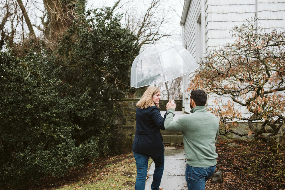 Engagement Photos, Rainy, Ellicott City, Maryland Wedding Photographer, Winter, Overhills Mansion, Indian American, Historical, Classic, Traditional, Outdoor, Umbrella
