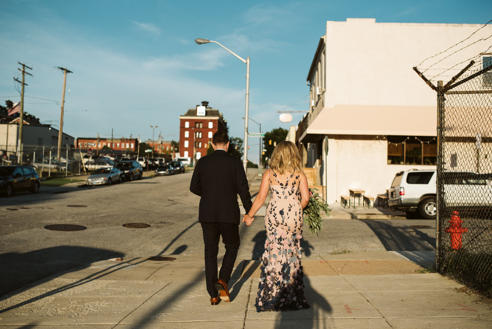 Pop-up Ceremony, Outdoor Wedding, Casual, Simple, Lake Roland, Baltimore, Maryland Wedding Photographer, Laid Back, Bride and Groom Walking to Reception, Clavel