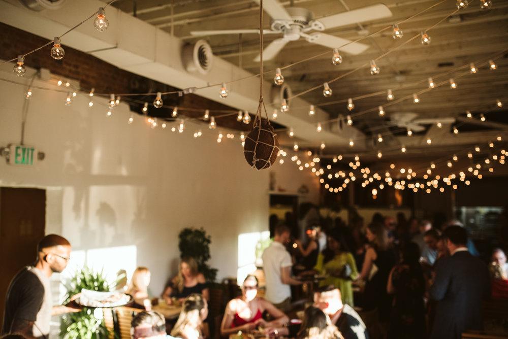 Outdoor Wedding, Casual, Simple, Baltimore, Maryland Wedding Photographer, Laid Back, September Wedding, Reception Decor, String Lights