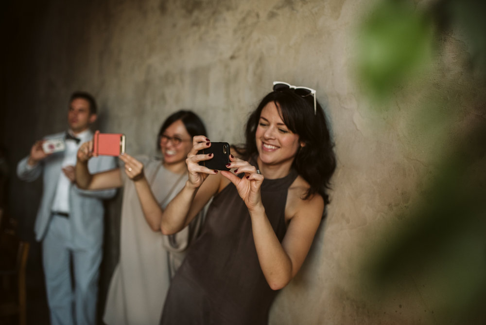 Outdoor Wedding, Casual, Simple, Baltimore, Maryland Wedding Photographer, Laid Back, September Wedding, Wedding Guetss Taking Photos, Candid Photo