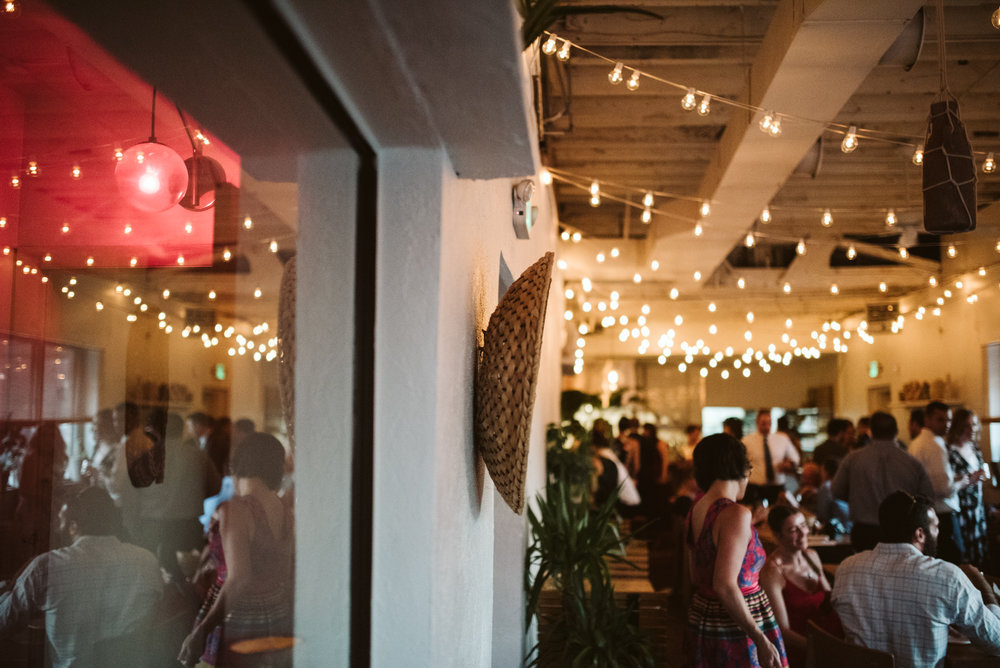Outdoor Wedding, Casual, Simple, Baltimore, Maryland Wedding Photographer, Laid Back, September Wedding, Reception Decor, String Lights, Reception at Clavel