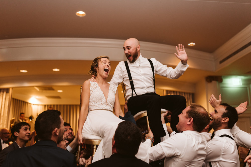 Elegant, Columbia Country Club, Chevy Chase Maryland, Baltimore Wedding Photographer, Classic, Traditional, Jewish Wedding, Bride and Groom Doing the Hora