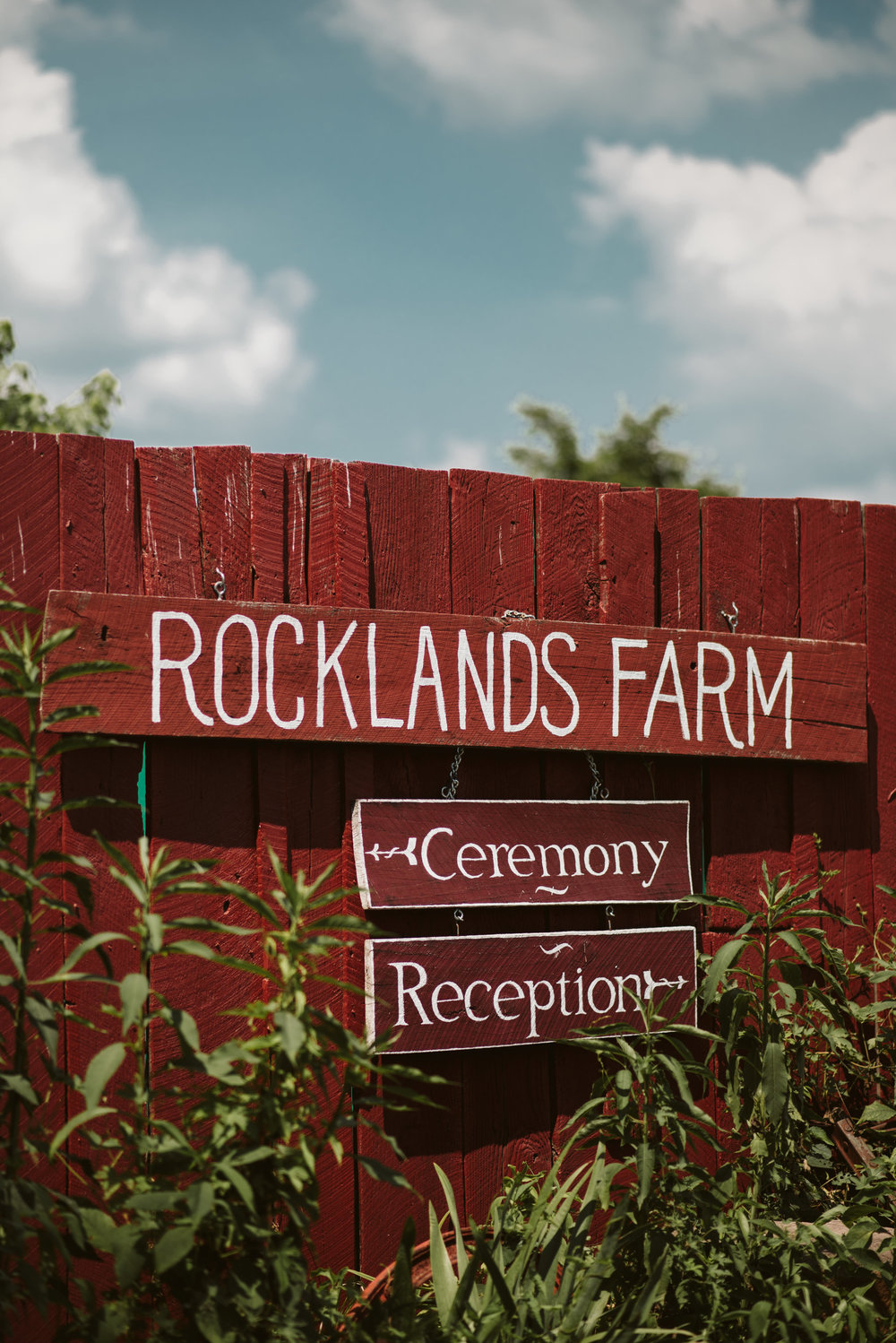 Rocklands Farm, Maryland, Intimate Wedding, Baltimore Wedding Photographer, Sungold Flower Co, Rustic, Romantic, Barn Wedding, Hand Painted Ceremony Signage on Fence
