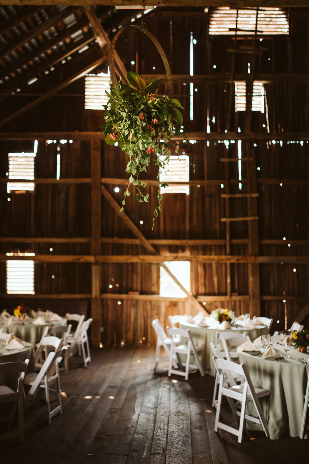 Rocklands Farm, Maryland, Intimate Wedding, Baltimore Wedding Photographer, Sungold Flower Co, Rustic, Romantic, Barn Wedding,  Hanging Floral Arrangement