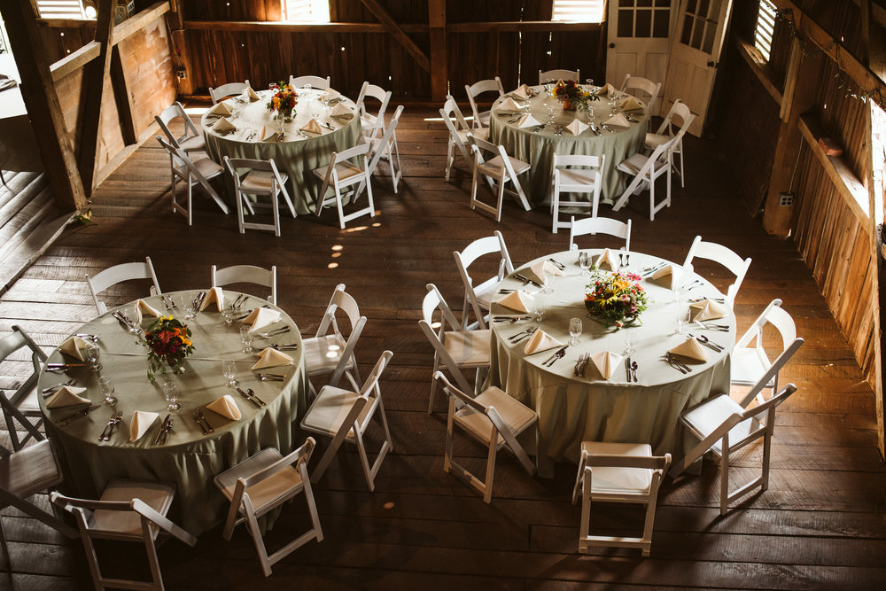 Rocklands Farm, Maryland, Intimate Wedding, Baltimore Wedding Photographer, Sungold Flower Co, Rustic, Romantic, Barn Wedding, Overhead Shot of Reception Setup