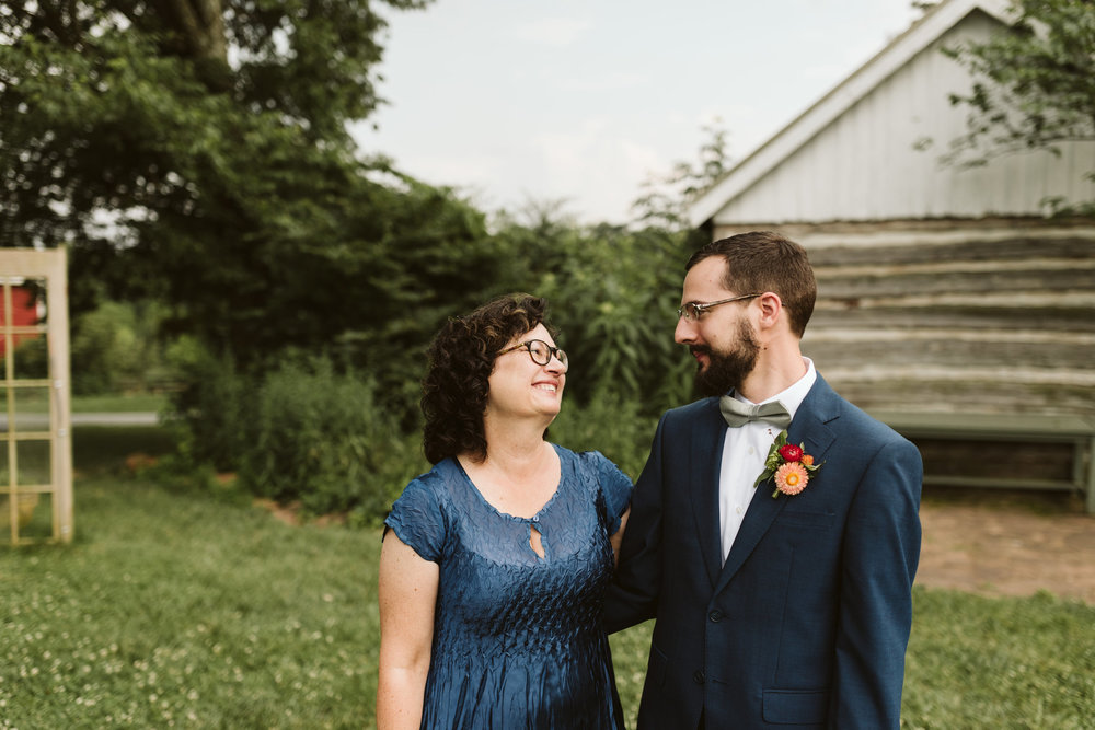 Rocklands Farm, Maryland, Intimate Wedding, Baltimore Wedding Photographer, Sungold Flower Co, Rustic, Romantic, Barn Wedding, Groom with Mother of the Groom, Family Portrait