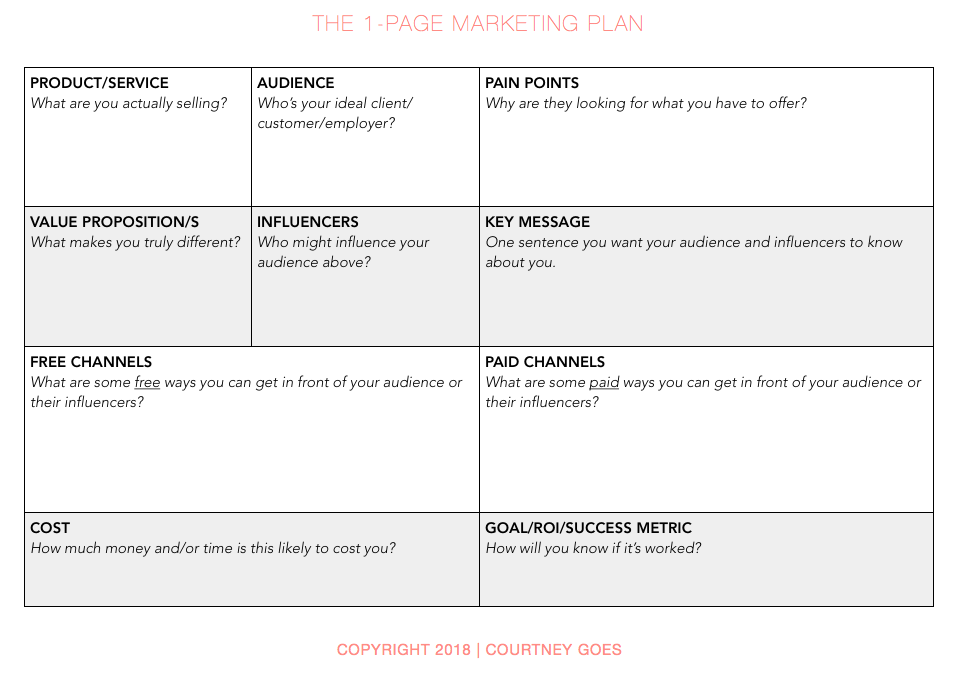 Courtney Goes - The 1-Page Marketing Plan.png