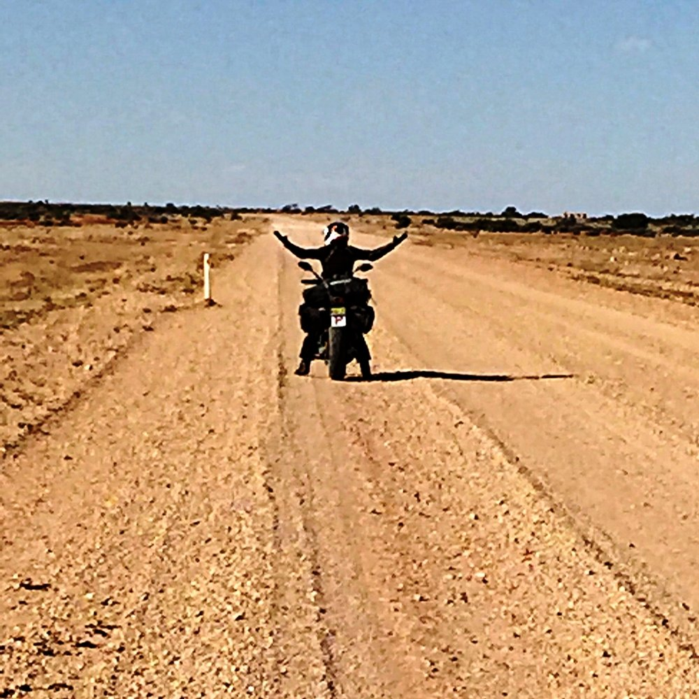 Hammering over 400km of dirt on the Birdsville Road. Remarkable performance for a street bike!