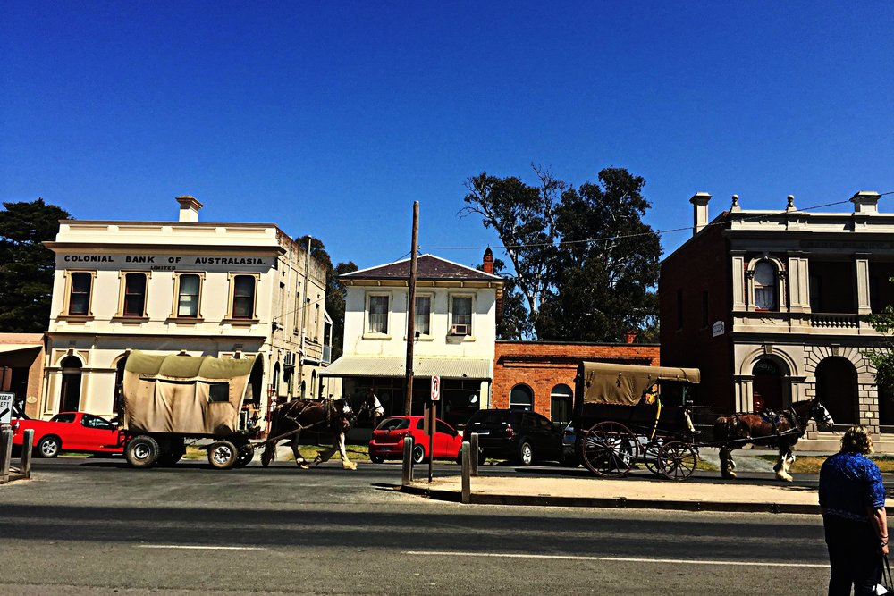 Old school transport in Echuca