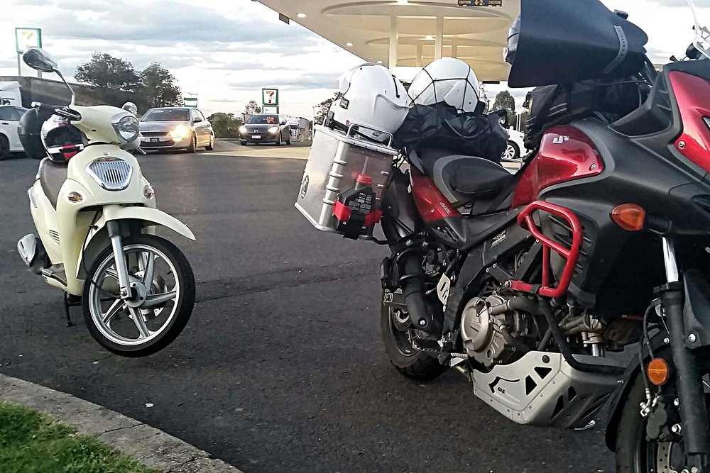 Two mighty touring machines!