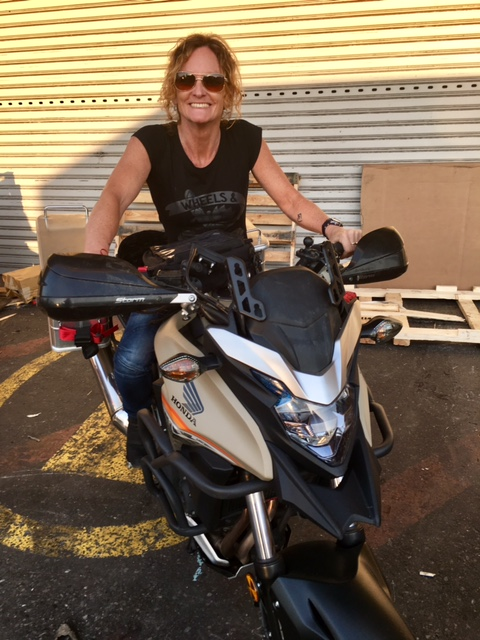 Sonja looking ready to ride at least 40,000km