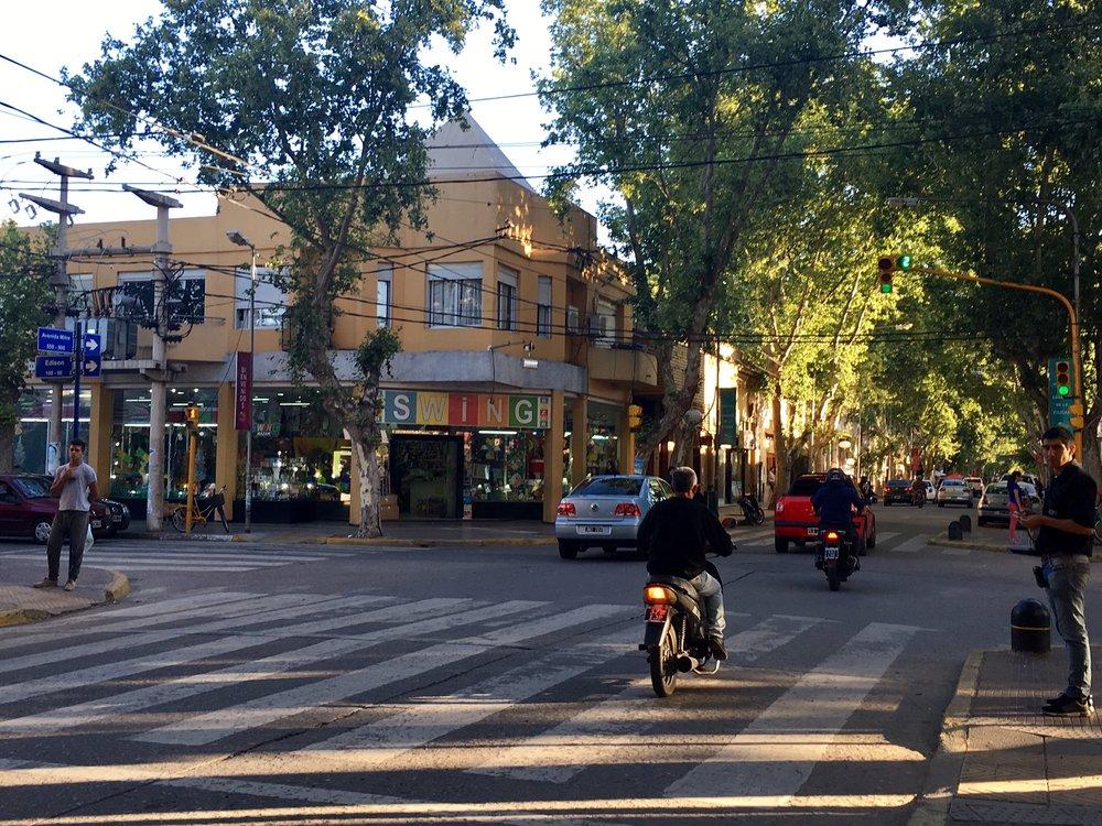 The wide, leafy streets of Mendoza
