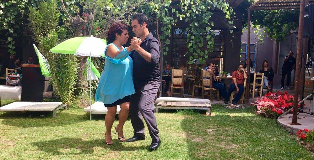 Natalia and Alberto dancing up a storm